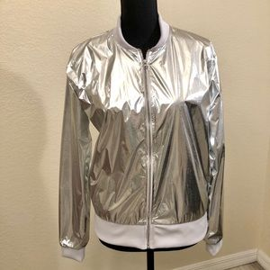 NWT Victoria's Secret Sport Metallic Jacket SZ XS